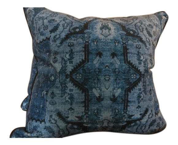ralph lauren pillows in blue anglesey pattern a pair