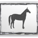 Abstract Horse Painting Black And White By Cleo Plowden Chairish