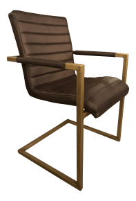 Contemporary Leather Chair Chairish