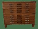 Vintage Mayline 10 Drawer Blueprint Flat File Oak Cabinet Chairish