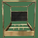 California King Size Universal Furniture Modern Harlow Canopy Bed Modern Chairish