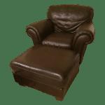 Natuzzi Italsofa Leather Chair And Ottoman Set Chairish