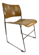 Mid Century Modern David Rowland 40 4 Bent Plywood Stacking Chair