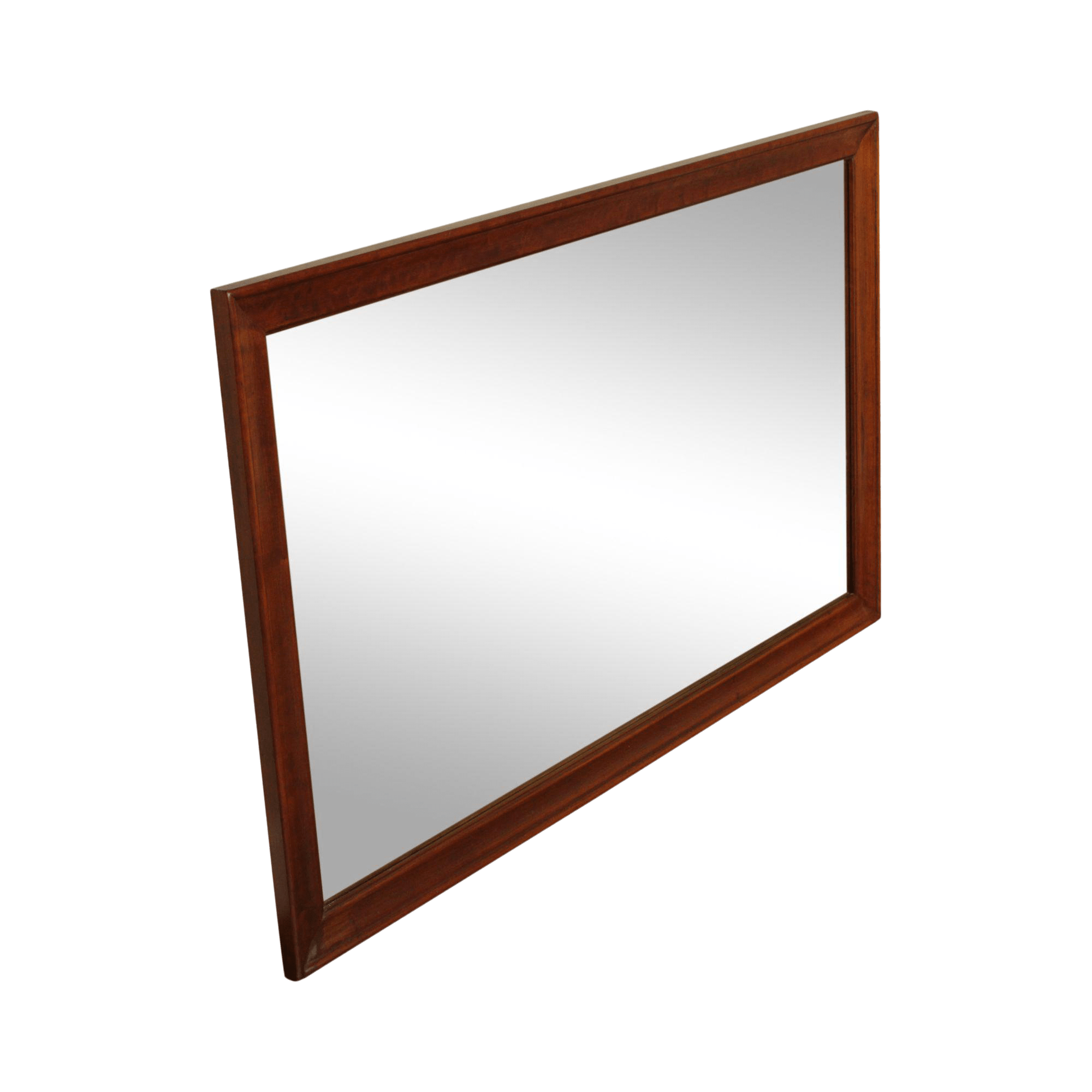 vintage solid cherry wood frame rectangular wall mirror
