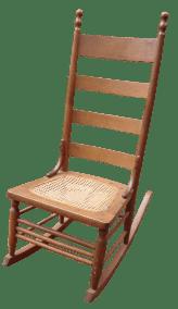 Antique 18th C Early American Ladderback Rocker Chair Chairish