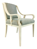 Hickory Chair Ivory And Light Blue Transitional Accent Chair Chairish