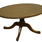 20th Century Traditional Pennsylvania House Solid Cherry 36 Oval Accent Coffee Table Chairish