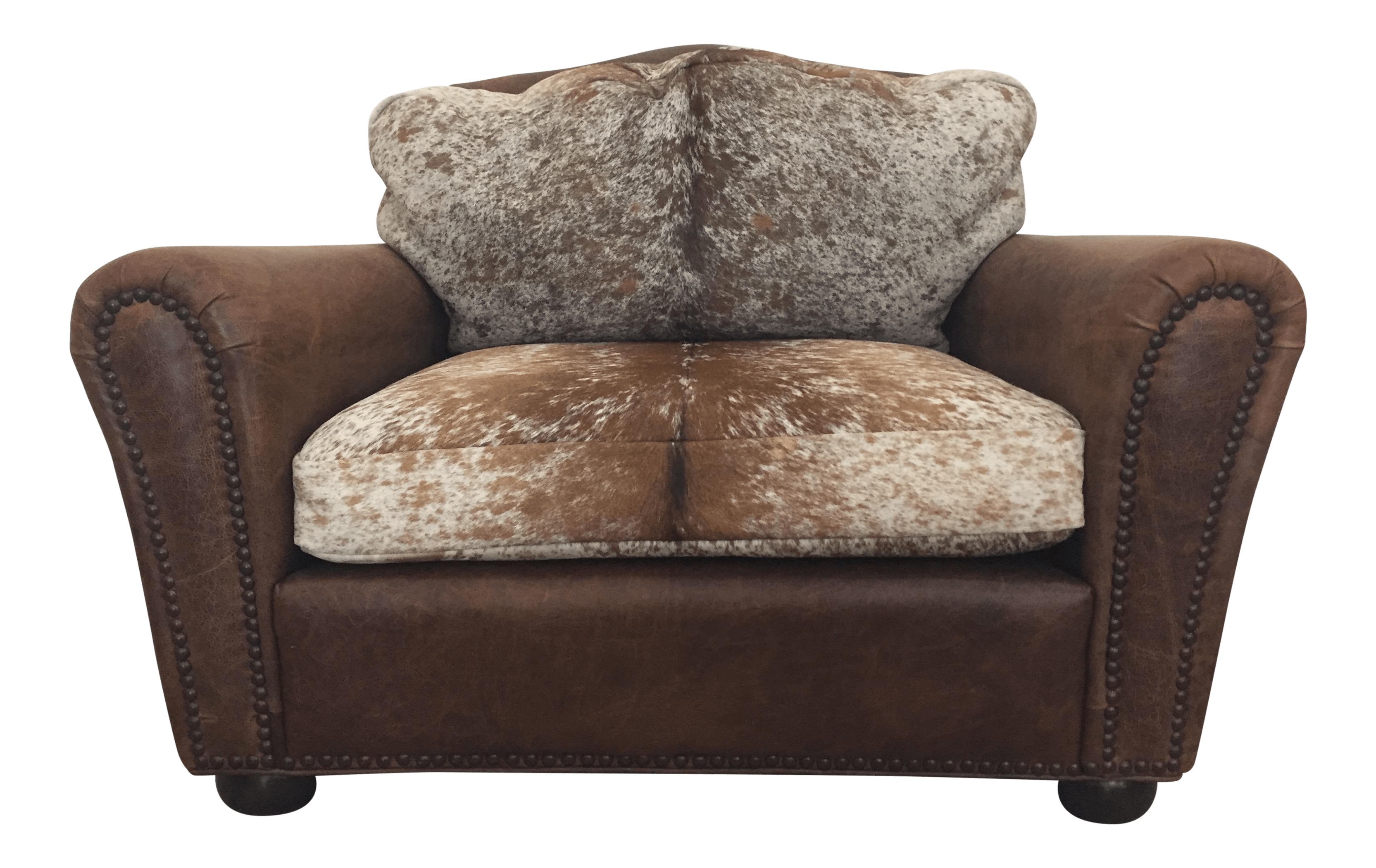 1980s Vintage Masculine Leather And Cowhide Club Chair