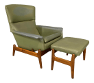 Mid Century Modern Recliner And Ottoman By Folke Ohlsson For Dux In Teak A Pair Chairish