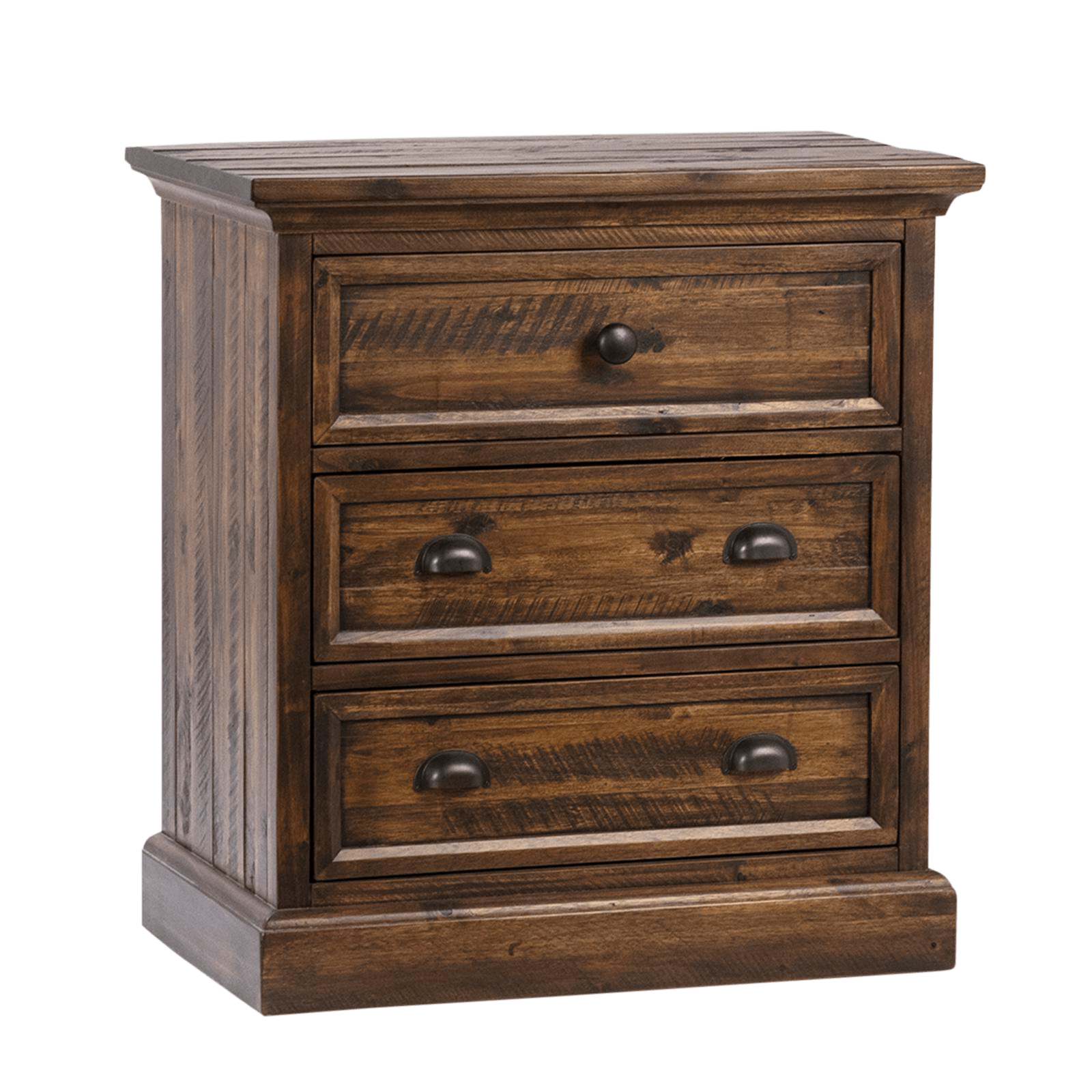 Hadlee Carved Wood Nightstand