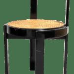 Mid Century Italian Modern Bentwood Cane Black Round Chair Chairish