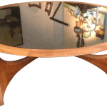 Round Mid Century Modern Coffee Table By Lane