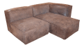 Modern Restoration Hardware Distressed Leather Sectional With Right Chaise One Armchair Chairish