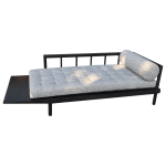 Mid Century Modern Upholstered Cantilever Daybed Sofa