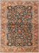 Small Size Antique Persian Tabriz Blue Background Rug 4 8 6 5