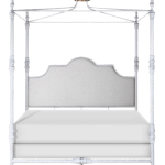 Swede Collection King Metal Bed With Crown Canopy Chairish