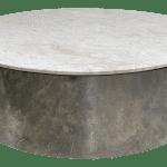 1970s Pace Carrara Marble Chrome Drum Coffee Table Chairish