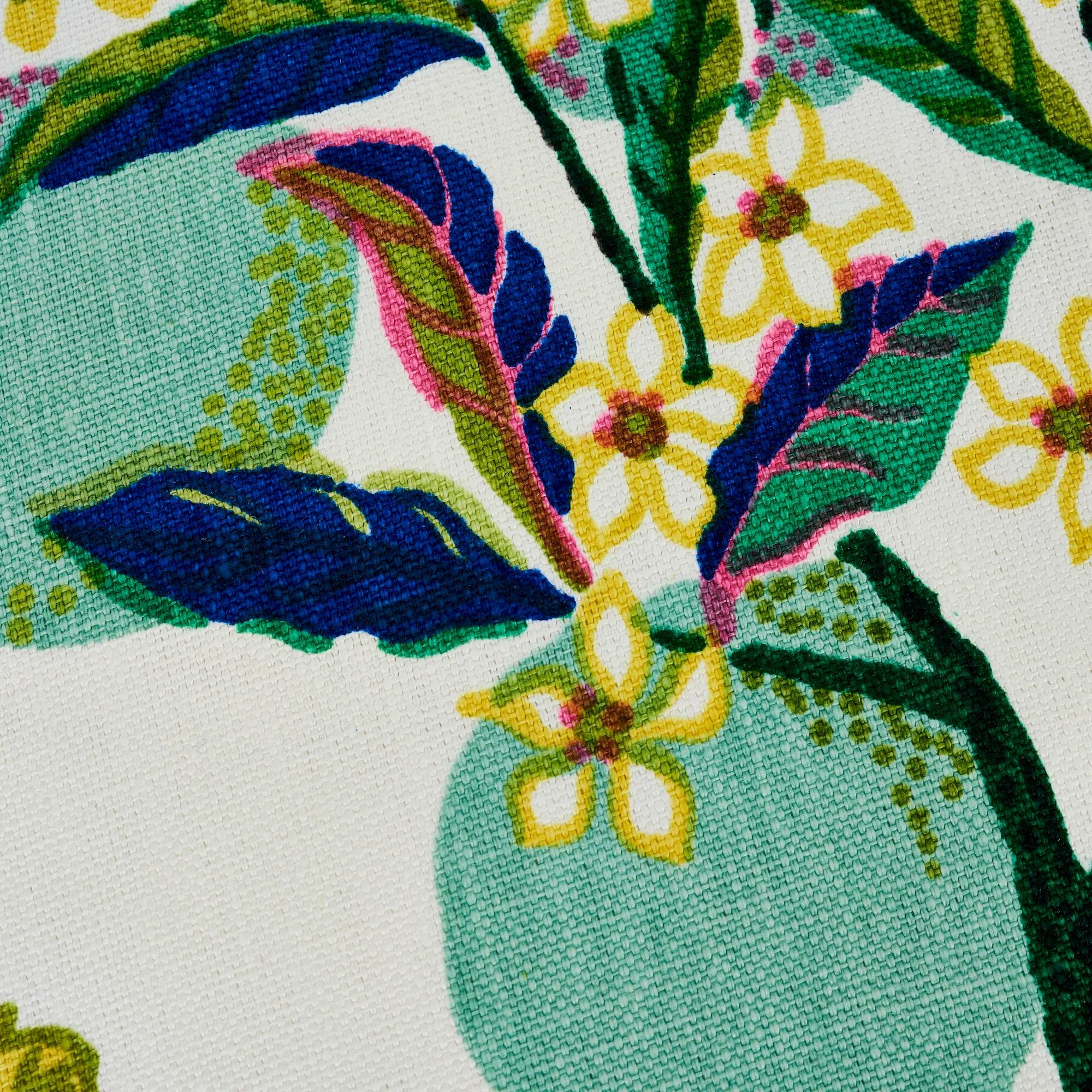 schumacher citrus garden pillow in lime