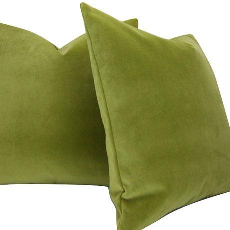 moss green velvet pillow cover cotton velvet 22x22