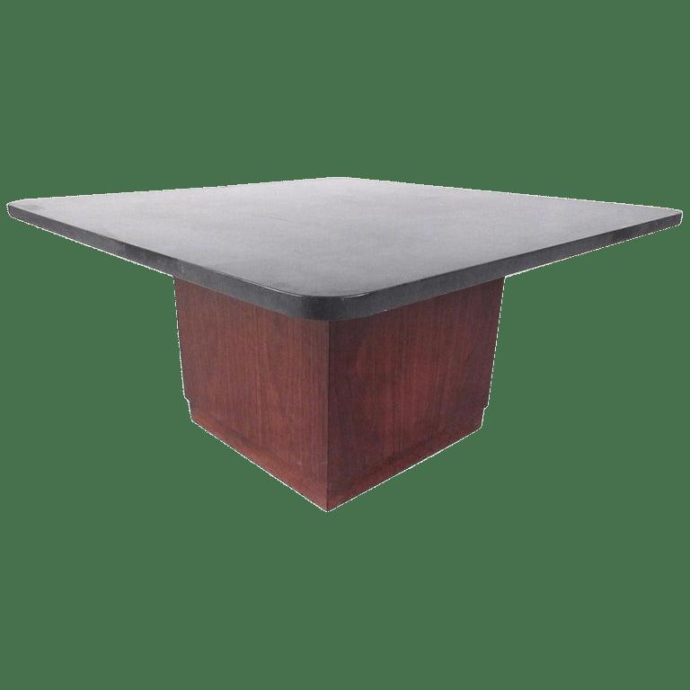mid century modern slate top coffee table