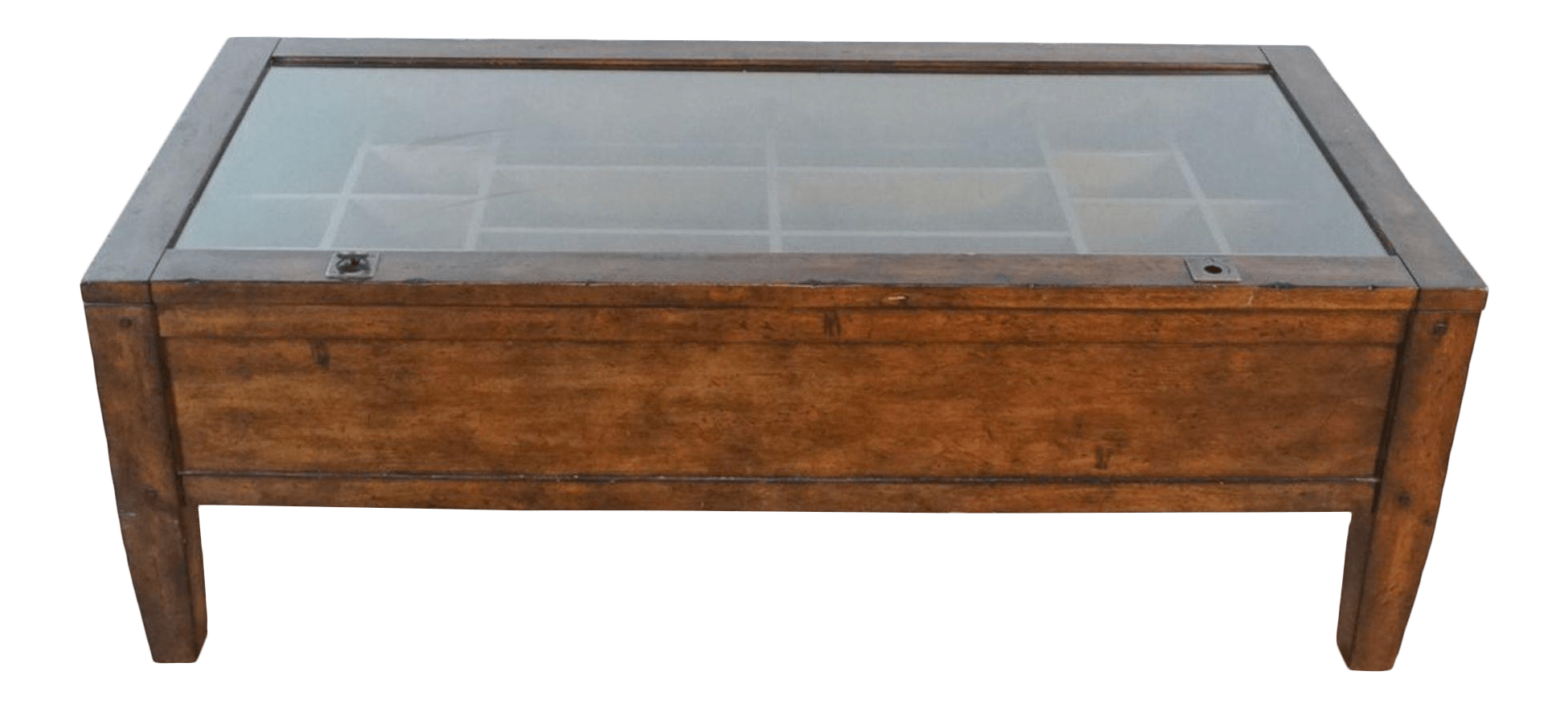 pottery barn townsend shadowbox coffee table