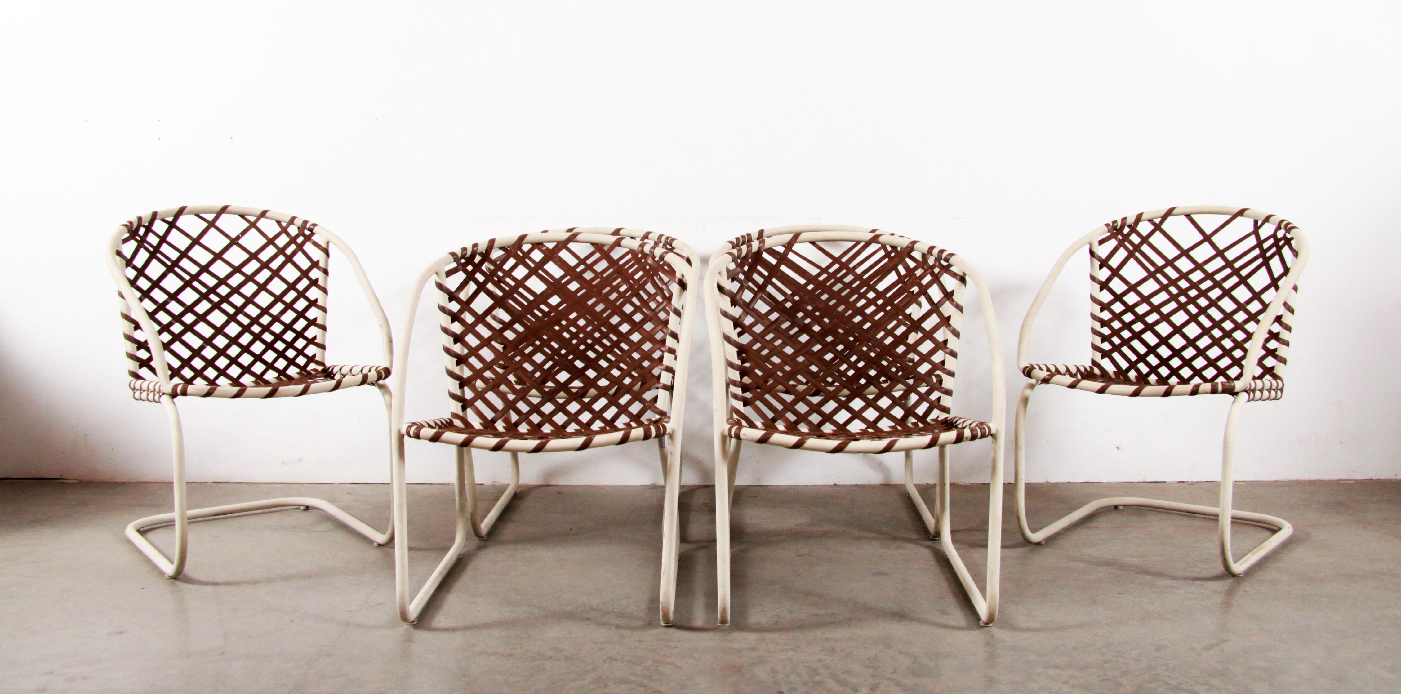 mid century modern brown jordan 6pc patio dining chairs set of 6