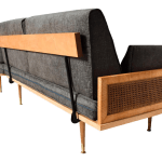 Mid Century Modern Wood Cane Daybed Pair Of Sofa Set Chairish