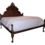 Ralph Lauren French Country Hudson Mahogany King Size Bed Chairish