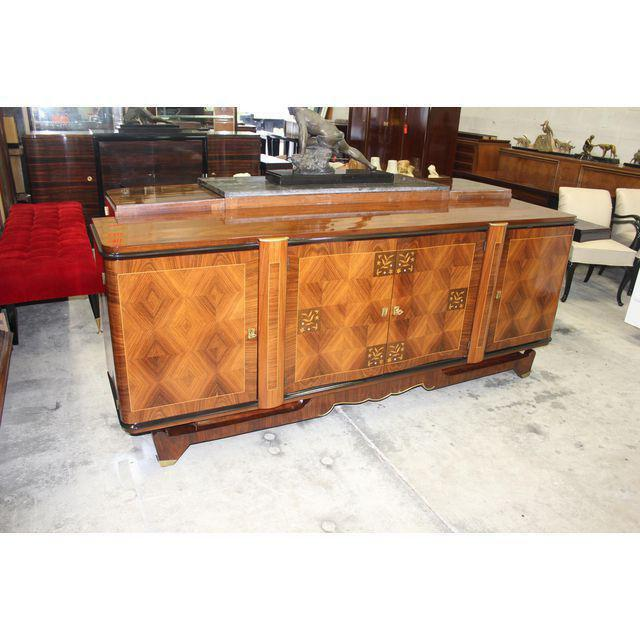 1940s classic french art deco rosewood sideboard buffet by jules leleu style circa 1940s for