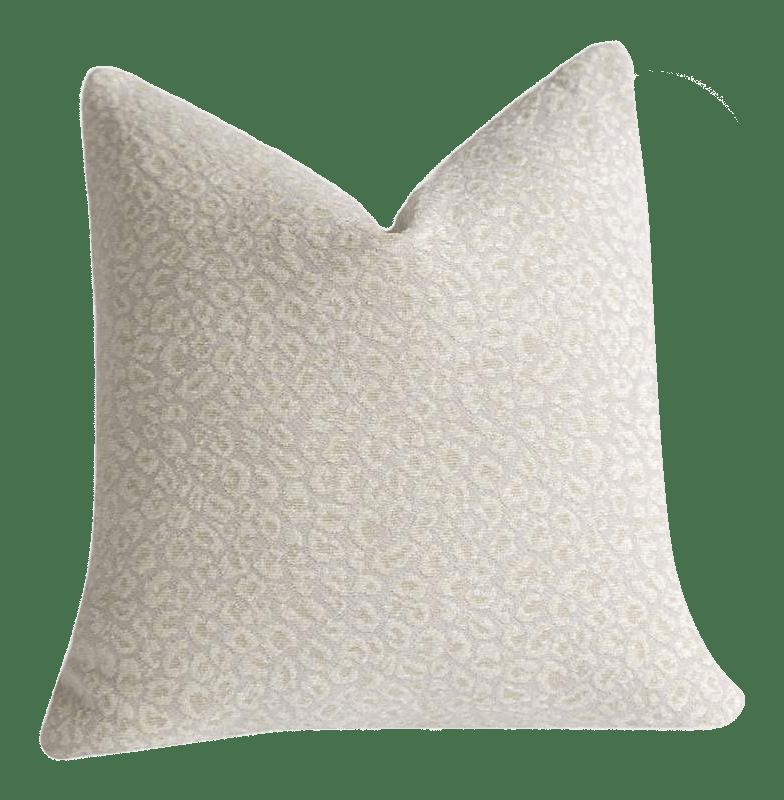 snow leopard chenille pillow cover 20x20
