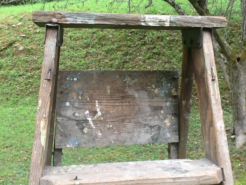 Vintage Wooden Step Ladder Chairish | Wood Steps For Sale | Yard | Temporary | Design | Travel Trailer | Camper