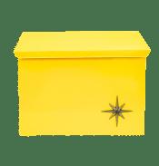 Mid Century Modern Yellow Metal Atomic Starburst Wall Mount Mailbox Chairish