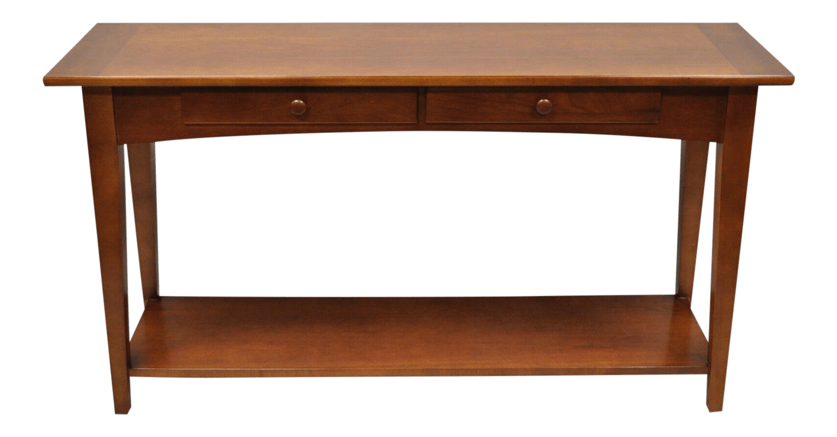 20th Century Arts And Crafts Stanley Cherry Wood Console Table