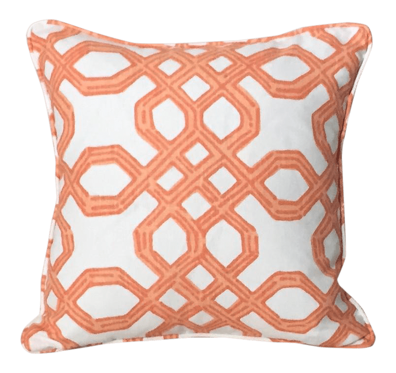 lilly pulitzer clementine orange pillow cover