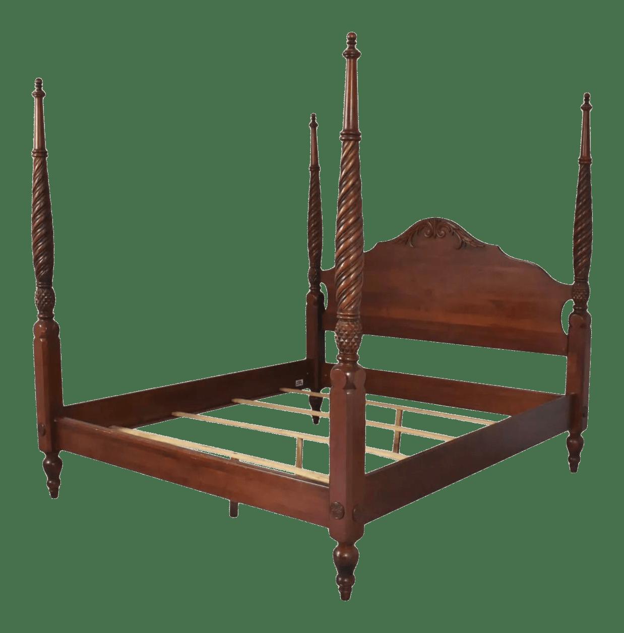 ethan allen british classics king montego 4 poster bed