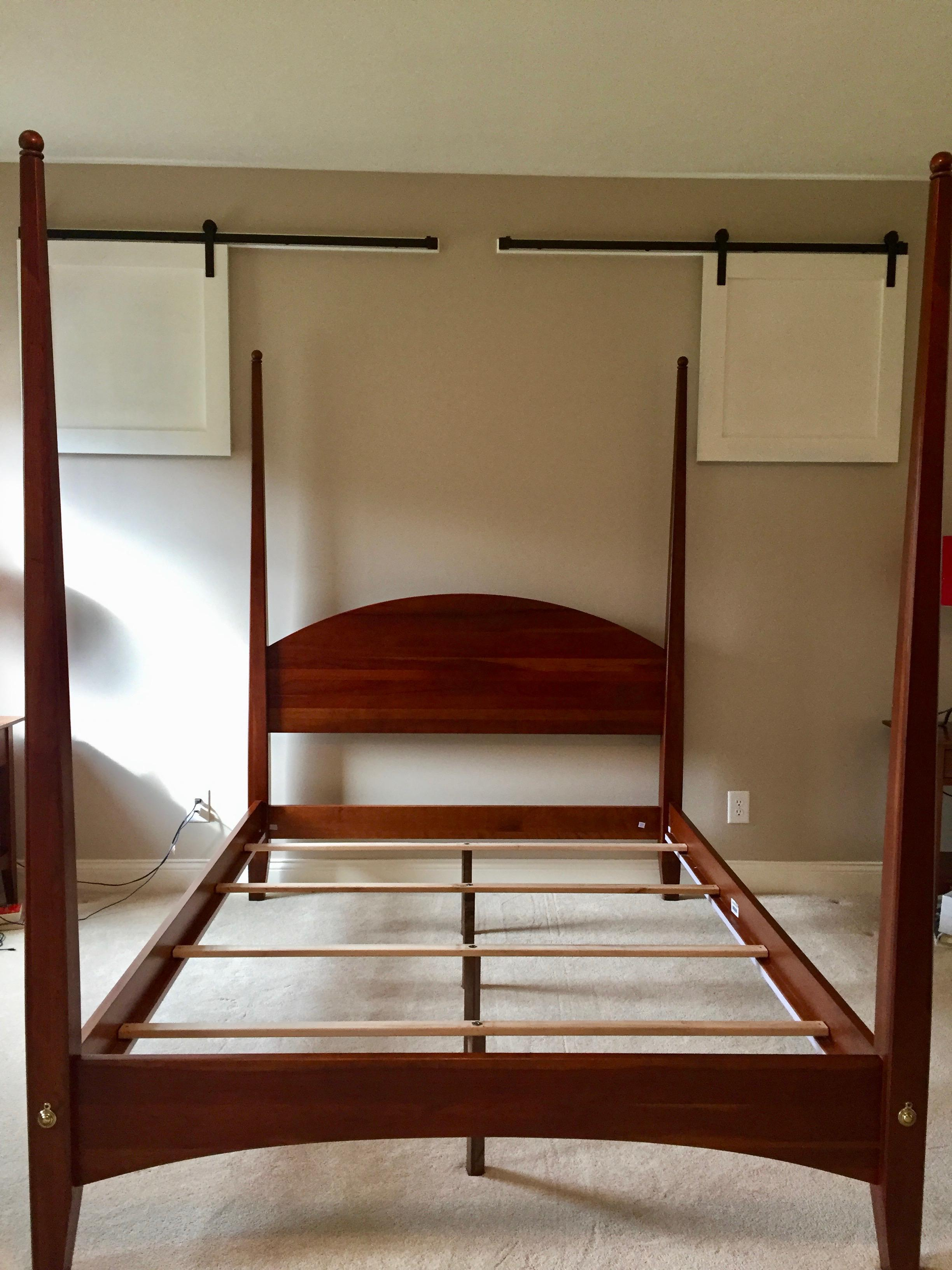 ethan allen cherry american impressions four poster bed with canopy