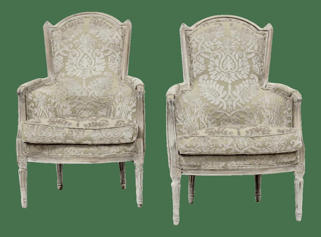 vintage new louis xvi bergere chairs
