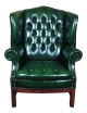 Tufted Wingback Chair Leather Sante Blog