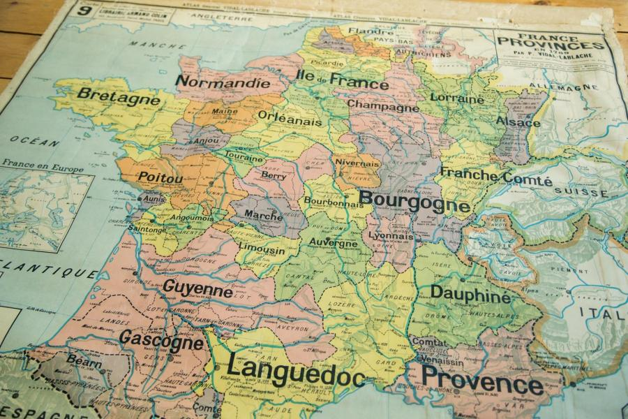 Antique Pull Down Map of France   Chairish Antique Pull Down Map of France   Image 2 of 6