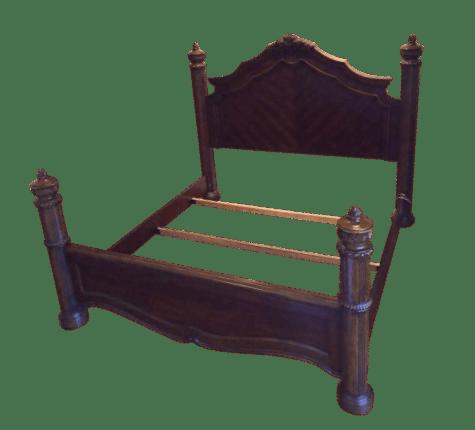 traditional bernhardt furniture four poster king bedframe