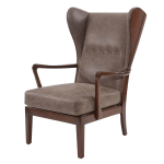 Vintage Used Leather Wingback Chairs Chairish