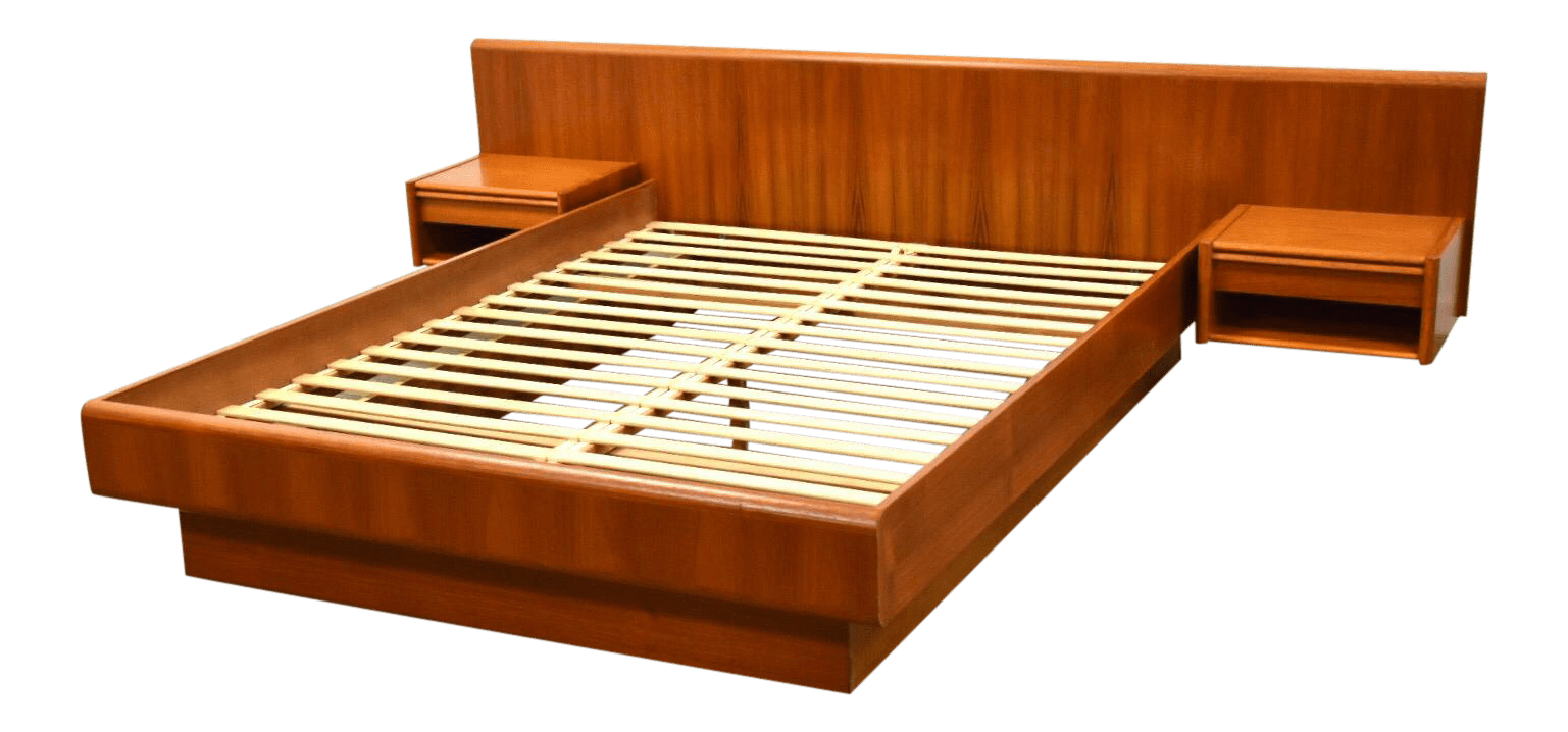 Queen Danish Teak Platform Bed Chairish