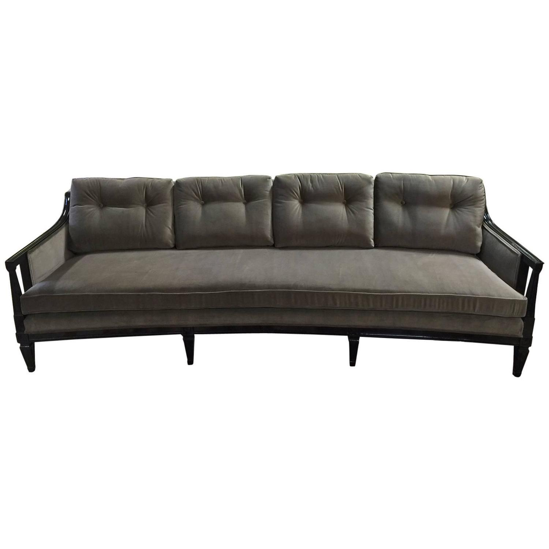 Mid Century Modern Curved Velvet Sofa Chairish