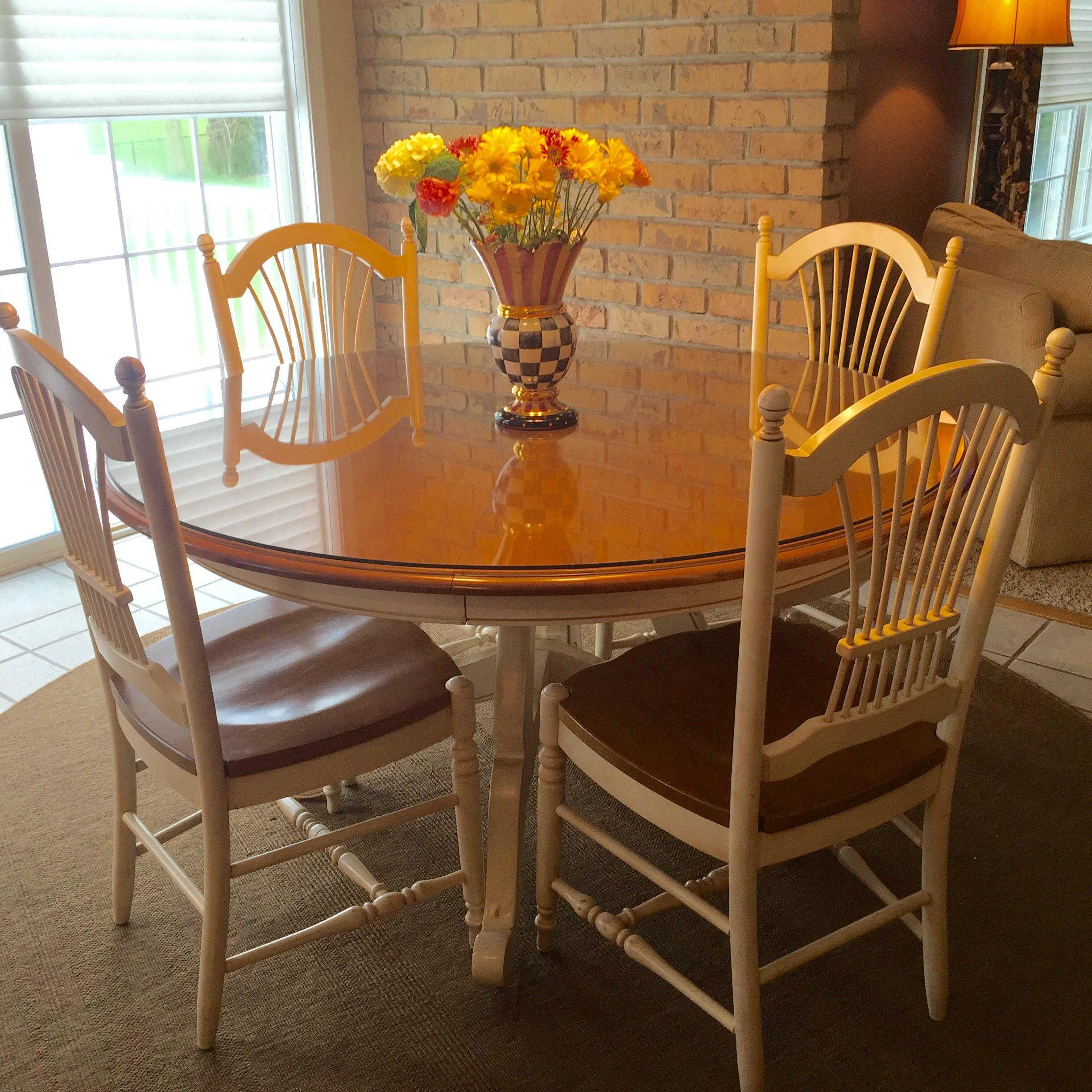 Ethan Allen Country French Dining Table And Chairs Chairish
