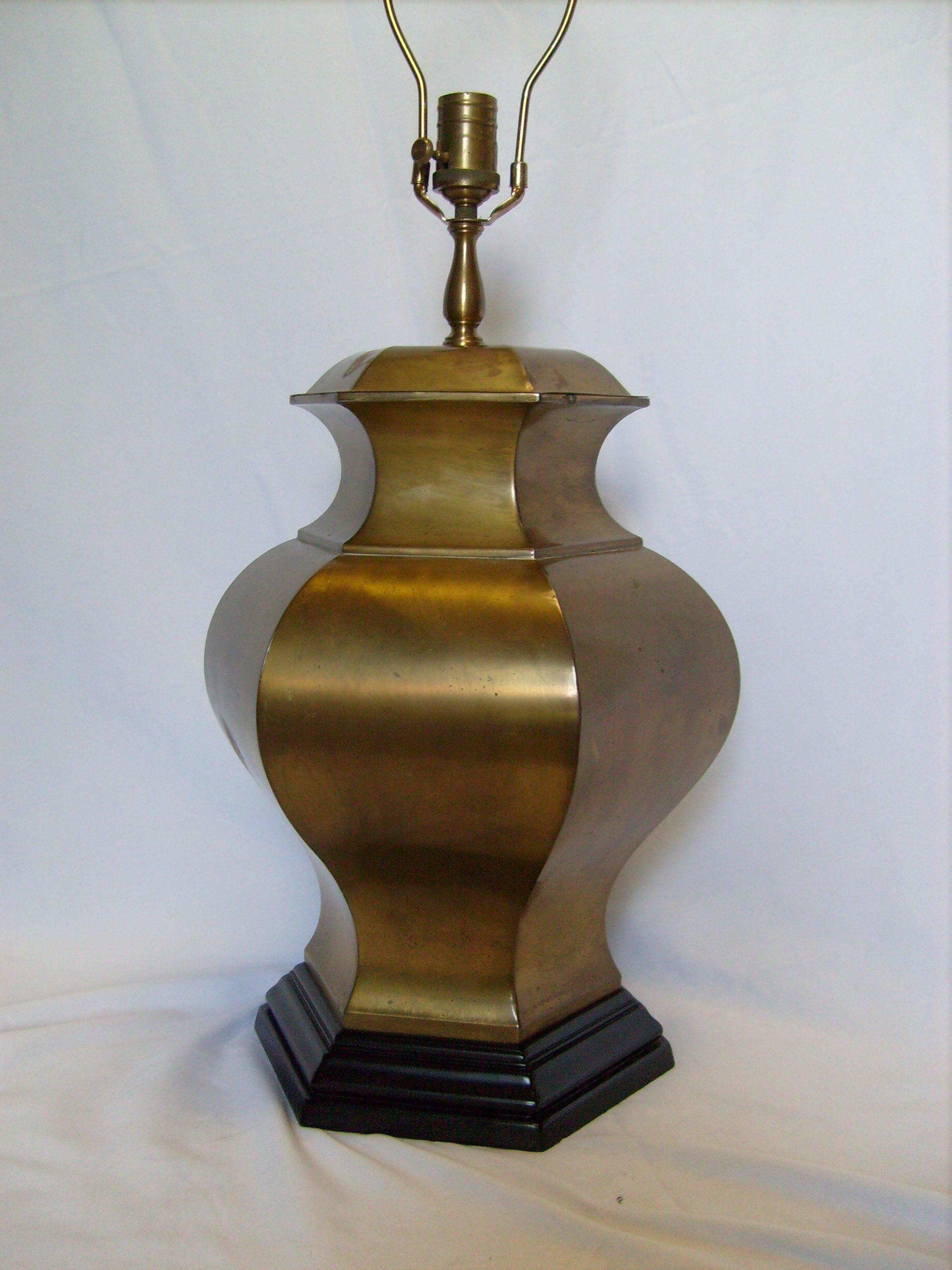Vintage Wildwood Hexagon Shaped Brass Urn Lamp Chairish