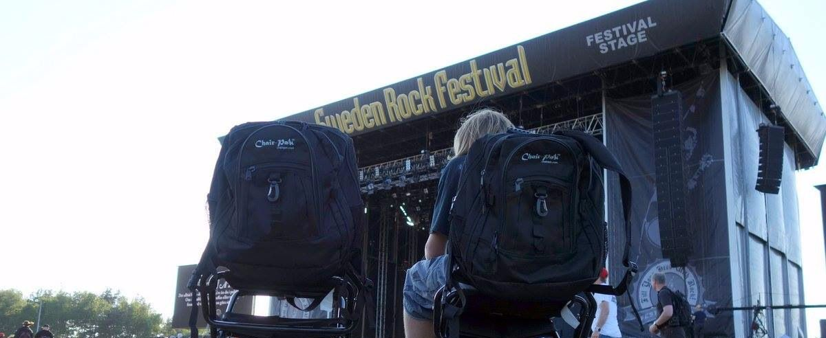 Chair-Pak, the perfect backpack chair combo for all events, concerts and outings