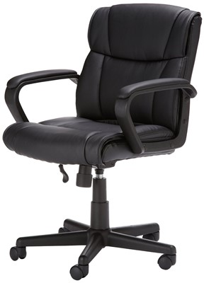 AmazonBasics Mid Back Chair - straight back office chair