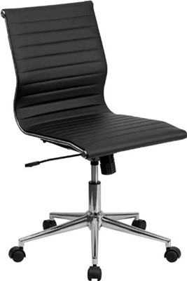 Flash Furniture Mid-Back Armless - office chair you can sleep in