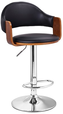 Adeco Swivel Hydraulic bar Stool - best bar stools with backs