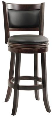 Boraam 48829 Augusta Bar Height Swivel Stool - bar stool with round back